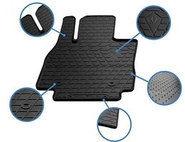 Передние автомобильные резиновые коврики Hyundai Santa Fe 2006-2010 (1009342)