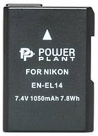 Акумулятор PowerPlant Nikon EN-EL14 Chip 1050mAh