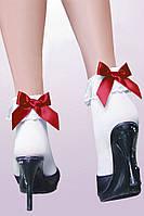 Носочки с красными бантиками, секси носочки. Размер универсальный.