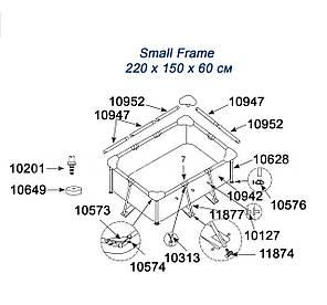 Скоба пружинная Intex 10313-5 для прямоугольных бассейнов Small Frame и круглых Metal Frame. Количество 5 шт , фото 2