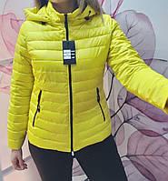 Легкая демисезонная куртка желтого цвета размеры с 42 по 56, фото 1