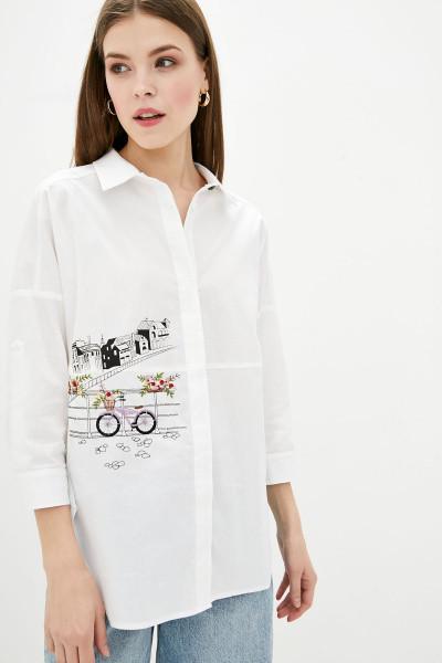 Сорочка Evdress S білий M, білий