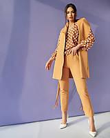 Женский брючный костюм тройка большого размера.Размеры:50/58+Цвета