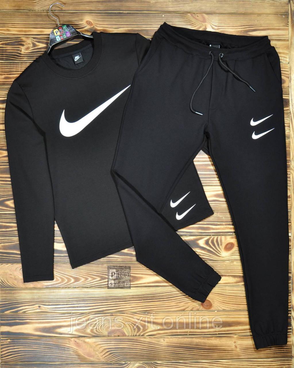 Футболка Чол. M(р) чорний 4016 Nike Туреччина Осінь-C