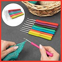Крючки для вязания набор 9 шт вязальных крючков для пряжи аксессуары для вязания 16см 2-6мм