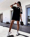 Жіноче плаття - футболка, турецька двунить, р-р універсальний 42-46 (чорний), фото 2