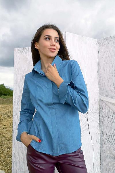 Рубашка Evdress M темно-голубой