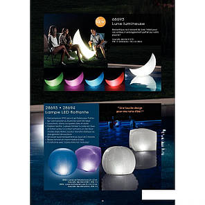 Светодиодная декоративная подсветка, фонарь Intex 68693 «Полумесяц» надувной, плавающий. Работает от аккумулят, фото 2