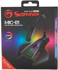 Микрофон на подставке Marvo MIC-01 Multi-LED, фото 2