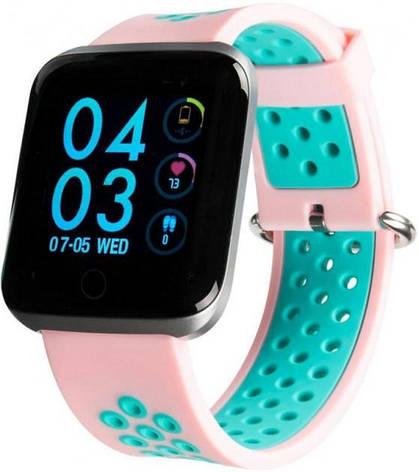 Смарт-часы Gelius Pro GP-SW001 (NEO) Pink/Blue, фото 2