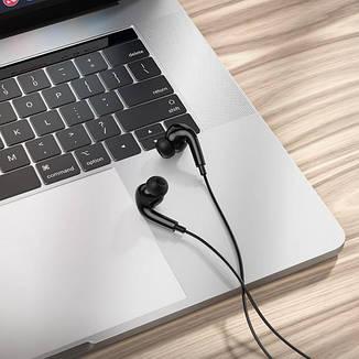 Дротові навушники Hoco M1 Pro Original series 3.5 мм з мікрофоном Black, фото 2