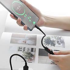 Кабель Hoco S13 Type-C с LED дисплеем/таймером зарядки 2.4 А Black, фото 2