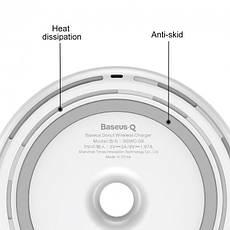 Бездротове зарядний пристрій Baseus Donut Wireless Charger White (WXTTQ-02), фото 2