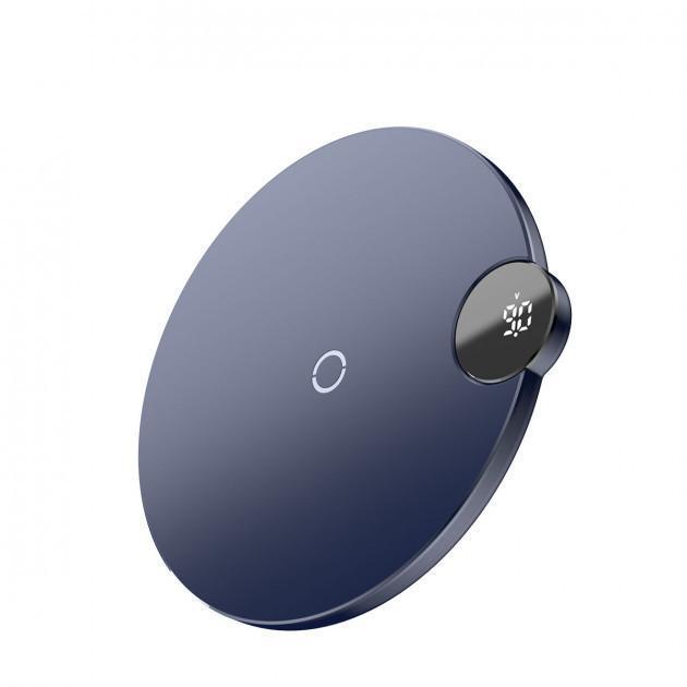 Беспроводное зарядное устройство Baseus Digital LED Display  Blue (WXSX-03)