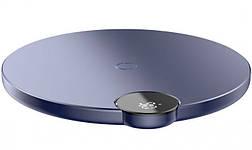 Беспроводное зарядное устройство Baseus Digital LED Display  Blue (WXSX-03), фото 2