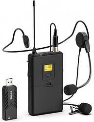 Беспроводной петличный микрофон Fifine K031B Wireless Black