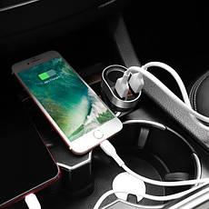 Автомобільний зарядний пристрій Hoco Z29 2USB 3.1 A Black, фото 2