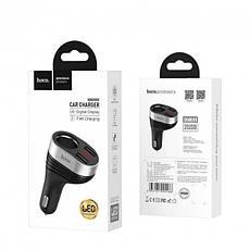 Автомобільний зарядний пристрій Hoco Z29 2USB 3.1 A Black, фото 3