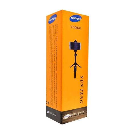 Штатив трипод з bluetooth Yunteng YT-9928 для фотоапарата, телефону, камери Black, фото 2