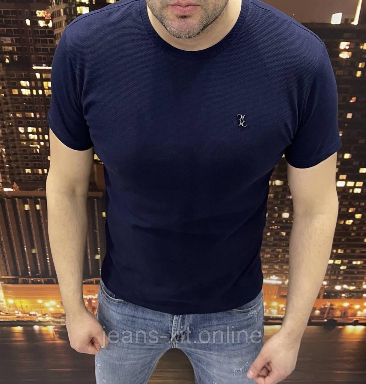 Футболка чоловіча 2XL(р) темно-синя 88001 Billionaire КНР Літо-D