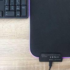 Ігрова поверхня RGB-S з підсвічуванням (25x35x3mm) black, фото 2