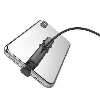 Кабель з присоском Hoco U51 USB-L Lightning (1200mm) Black, фото 2