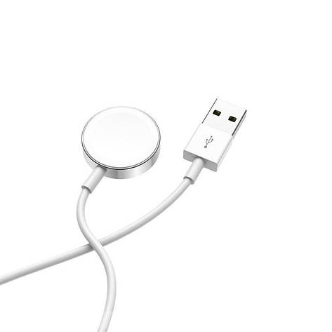 Беспроводное зарядное устройство Hoco CW16 для Apple Watch White, фото 2