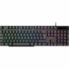 Дротова клавіатура HAVIT HV-KB504L з кольоровою підсвіткою USB Black