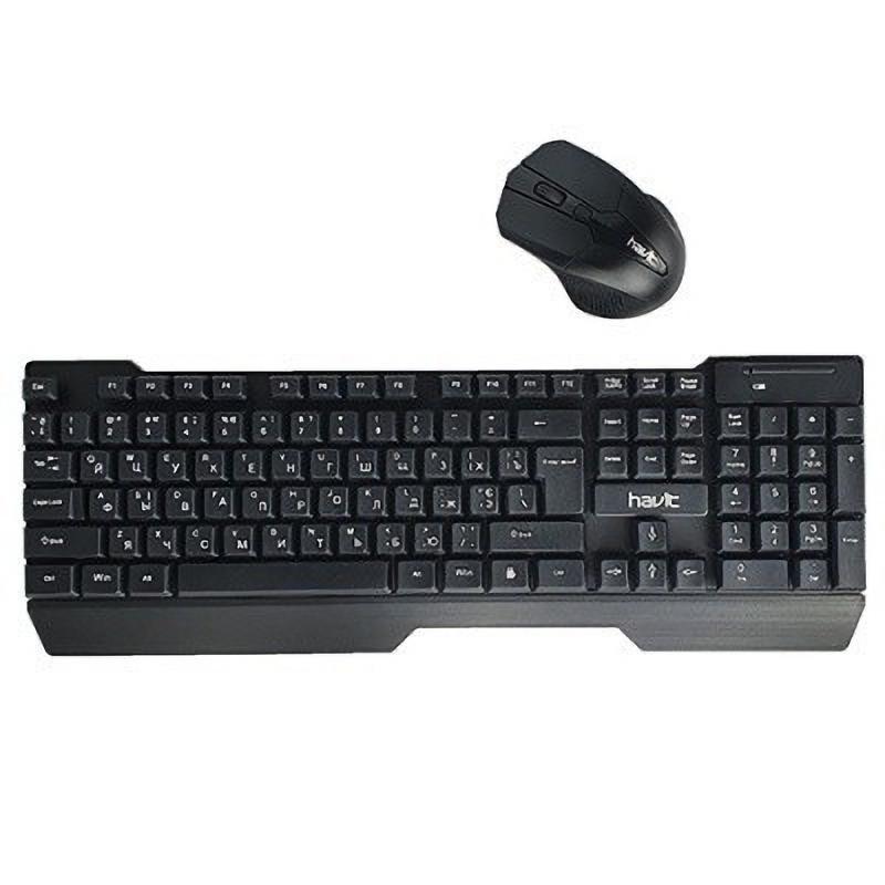Клавиатура и мышь HAVIT KB279GCM беспроводные USB Black