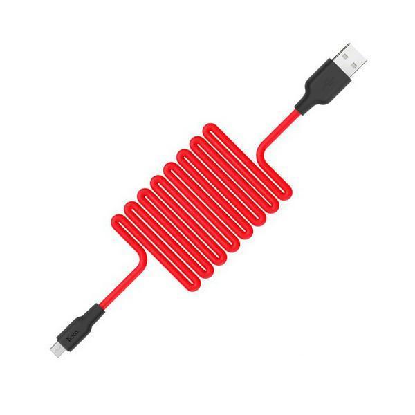Кабель Hoco X21 Silicone microUSB 1 м Red