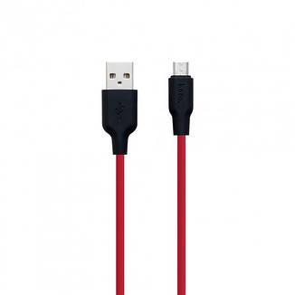 Кабель Hoco X21 Silicone microUSB 1 м Red, фото 2