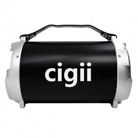Портативная стерео бумбокс колонка 2.1 Cigii S12B Black, фото 2