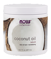 Кокосове масло NOW Foods 100% Natural Coconut Oil (207 мл)