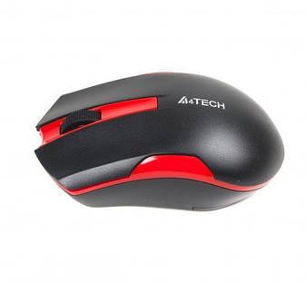 Мышь беспроводная A4Tech G3-200N Black/Red, фото 2