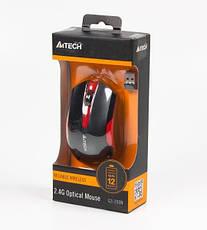 Мышь беспроводная A4Tech G3-200N Black/Red, фото 3
