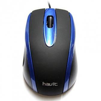 Мышь Havit HV-MS753 Black/Blue, фото 2