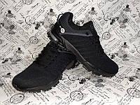 Весенние мужские кроссовки в стиле ADIDAS MARATHON Black черно-серые