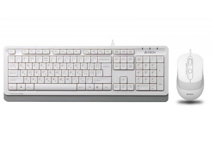 Клавиатура и мышь A4Tech F1010 проводные White
