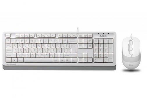 Клавиатура и мышь A4Tech F1010 проводные White, фото 2