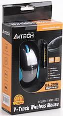 Мышь беспроводная A4Tech G3-270N Black/Blue, фото 3