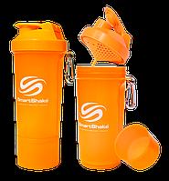 Шейкер SmartShake Slim NEON Orange (500 мл)