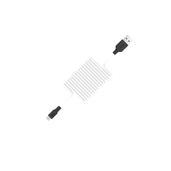 Кабель Hoco X21 Silicone microUSB 1 м White