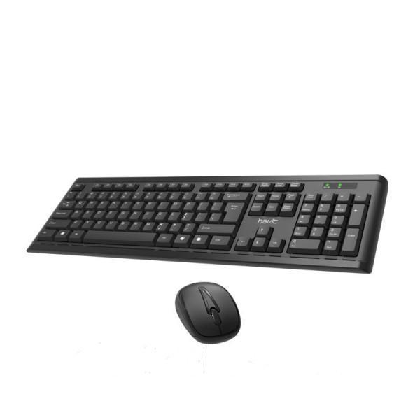 Клавіатура і миша HAVIT HV-KB653GCM бездротові USB Black