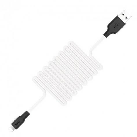 Кабель Hoco X21 Silicone Lightning 1 м White, фото 2