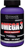 Комплекс незамінних жирних кислот Ultimate Nutrition Omega 3 (180 кап) Знижка! (225601)
