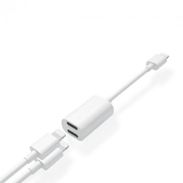 Переходник Foxconn 2in1 Lightning and Charger White (MA015)