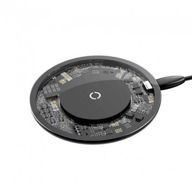 Бездротове зарядний пристрій Baseus Simple Wireless Charger (CCALL-AJK01) Crystal