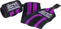 Бинти кистьові для фіксації зап'ястя Gorilla wear Womens Wrist Wraps (Black/Purple) Знижка! (223343)