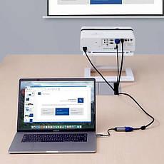 Перехідник USB-хаб Baseus Enjoyment Series Type-C to VGA HUB Convertor Grey (CAHUB-V0G), фото 3