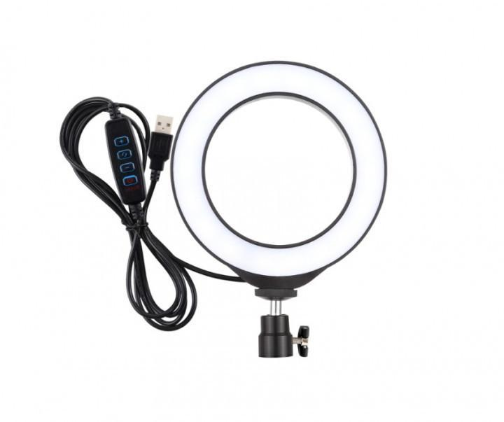 Кільцева лампа Professional Live Stream Світлодіодне LED кільце для блогерів 16 см без штатива